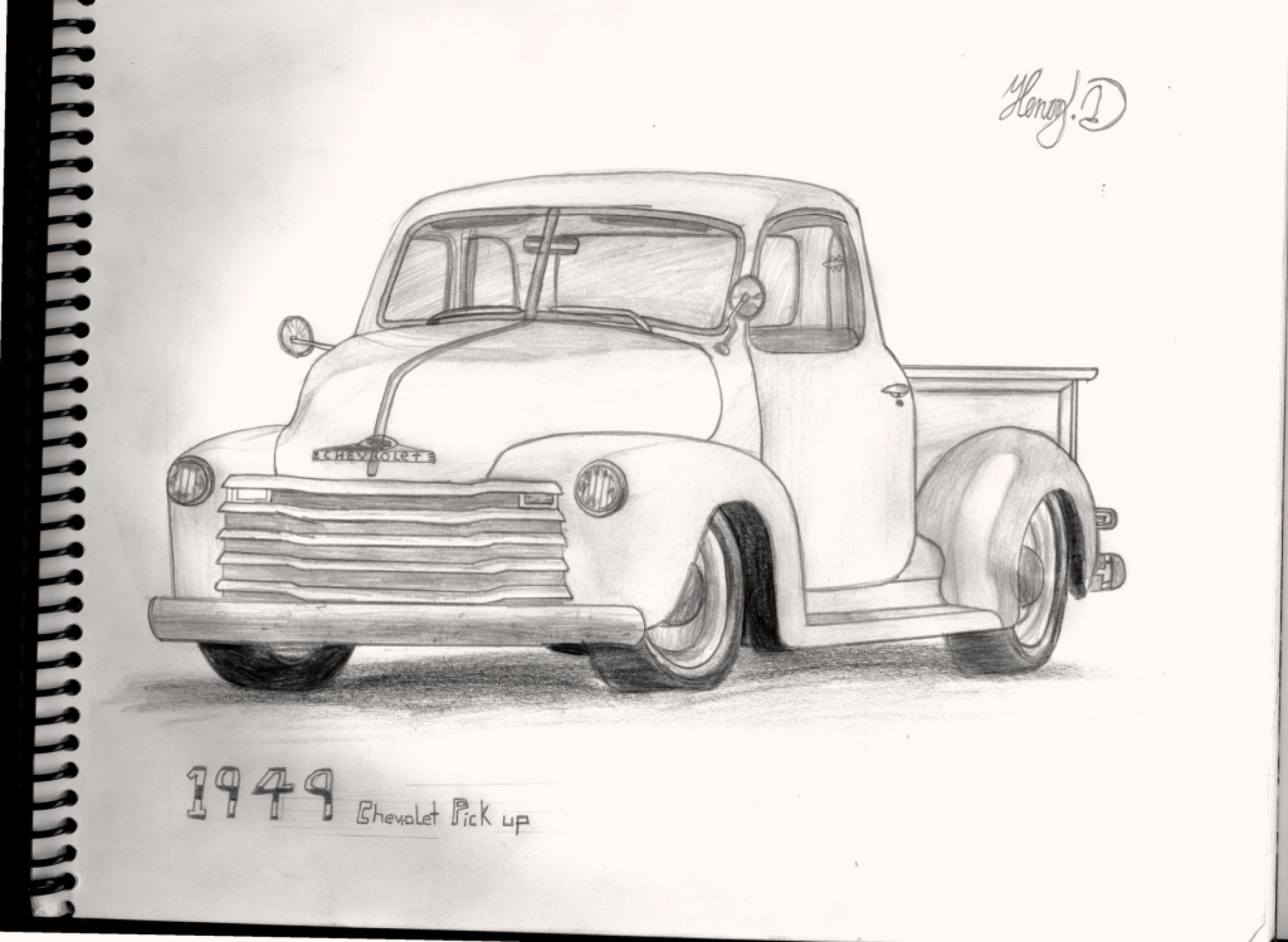 Mi dibujo de Chevrolet pick up (un clasico)
